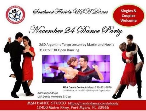 Join us this Sunday for an Argentine Tango lesson followed by open dancing.