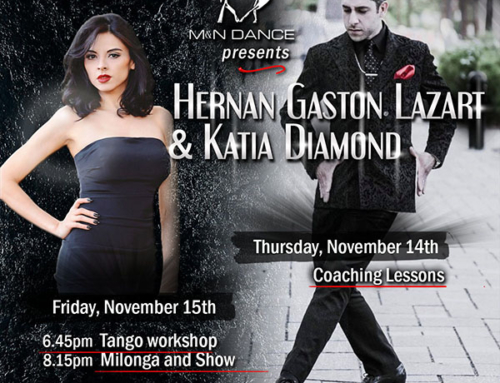 THIS FRIDAY: 6.45pm Workshop by Hernan Gaston Lazart & Katia Diamond – 8.15pm Milonga & Show.
