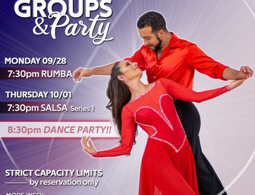 JOIN US!! Next Week: RUMBA, SALSA Series 1 and Practice Party!