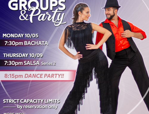 JOIN US!! Next Week: BACHATA, SALSA Series 2 and Practice Party!